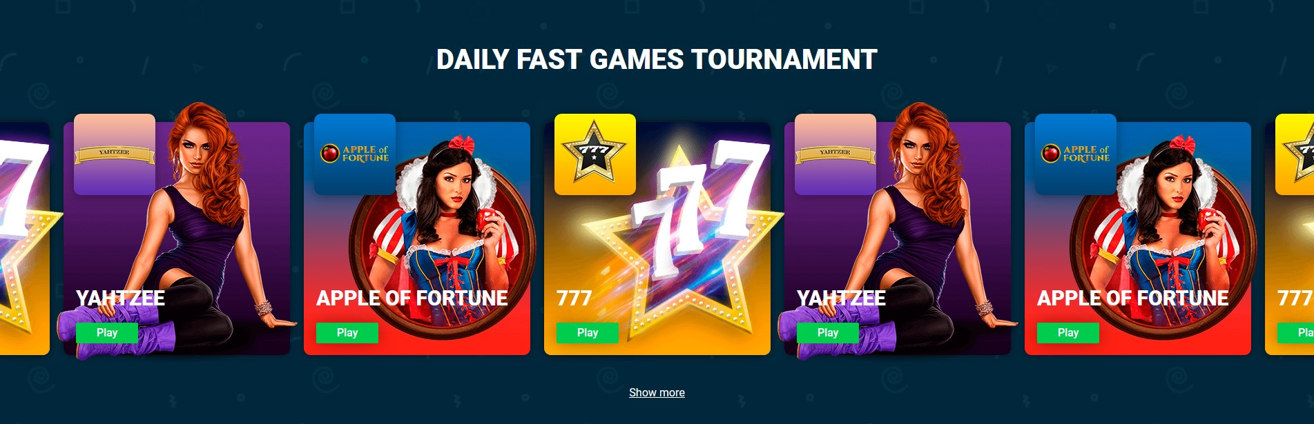 Daily Fast Games tournament
